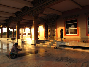 tibetan outside prayer hall